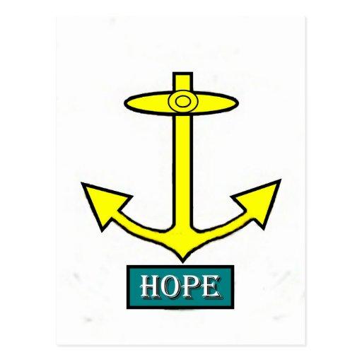 Ancla de la esperanza de Rhode Island Postales