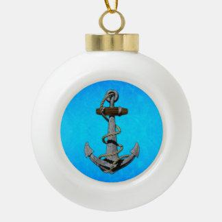Ancla de la nave adorno de cerámica en forma de bola