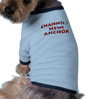 Ancla de las noticias del canal 5 camisetas de perrito
