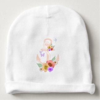 Ancla floral rosada gorrito para bebe