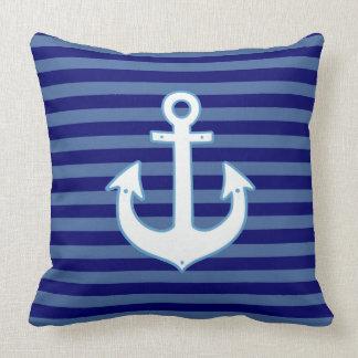 ancla náutica de la decoración y marina de guerra cojín
