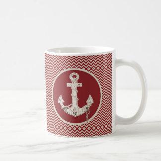 Ancla náutica de muy buen gusto de la playa del taza de café