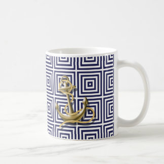 Ancla náutica de muy buen gusto del modelo griego taza de café