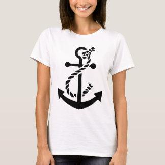 Ancla náutica del infante de marina de la marina camiseta