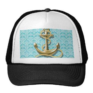ancla náutica del marinero del damasco de la gorro