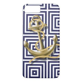 ancla náutica del modelo de muy buen gusto de la funda para iPhone 8 plus/7 plus