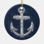 Ancla náutica del vintage adorno de navidad