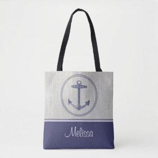 Ancla náutica el | personalizado bolsa de tela