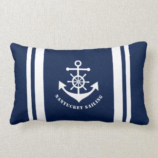 Ancla náutica en la almohada del Lumbar de los