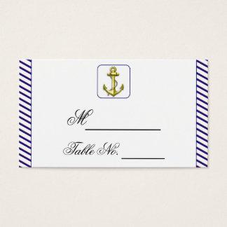 Ancla náutica en tarjeta del lugar del boda de la