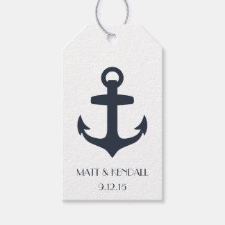 Ancla náutica personalizada etiquetas para regalos