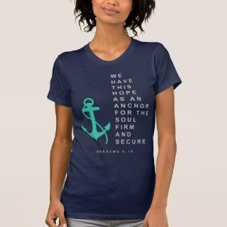 Ancla para el alma (6:19 de los hebreos) camiseta