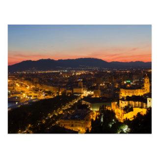 Andalucía - Málaga en la postal de la puesta del