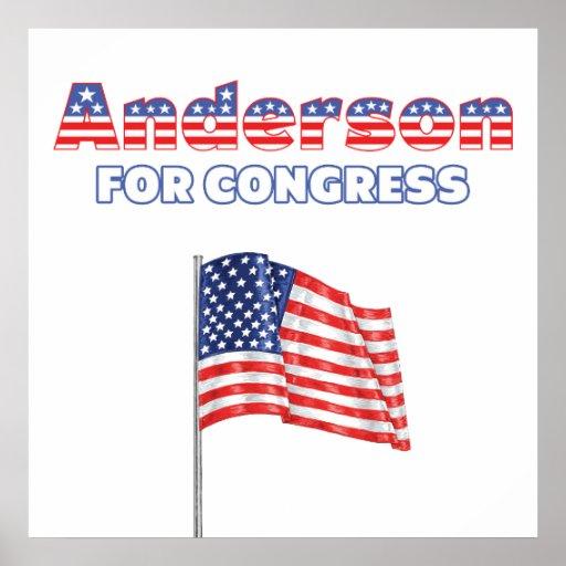 Anderson para la bandera americana patriótica del  impresiones