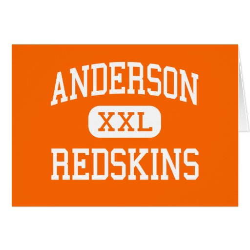 Anderson - pieles rojas - alta - Cincinnati Ohio Tarjeton