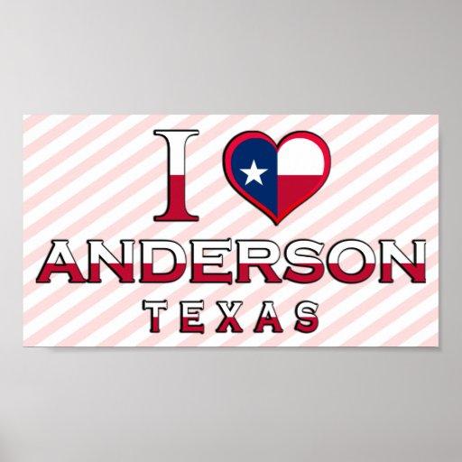 Anderson, Tejas Poster