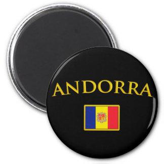 Andorra de oro imán redondo 5 cm