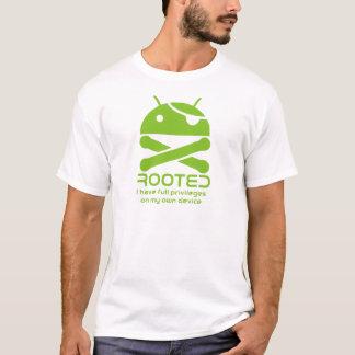 Androide arraigado camiseta