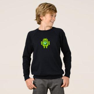 Androide de la camiseta del raglán de American