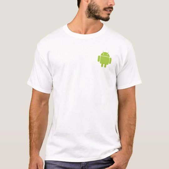 Androide simple camiseta