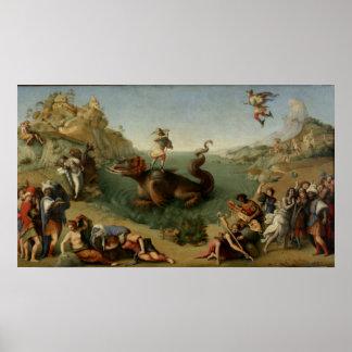Andromeda del rescate de Perseus Póster