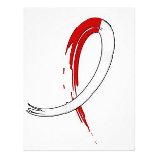 Anemia aplástica de la cinta blanca roja de la pin tarjeton