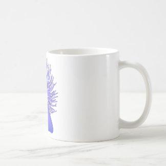 anémona de mar taza de café