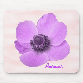 Anémona rosada femenina adaptable Mousepad Alfombrilla De Ratón