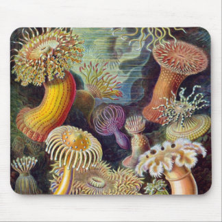 Anémonas de mar subacuáticas del vintage de Ernst Alfombrilla De Ratón