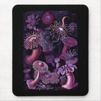 Anémonas en púrpura oscura alfombrilla de ratón
