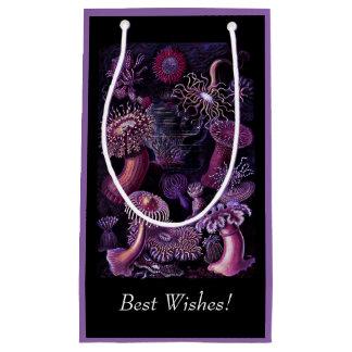 Anémonas en púrpura oscura bolsa de regalo pequeña
