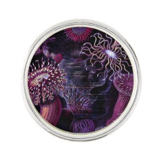 Anémonas en púrpura oscura pin
