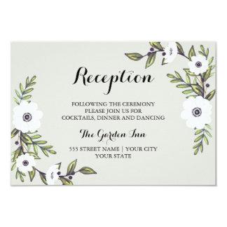 Anémonas pintadas - tarjeta de la recepción invitación 8,9 x 12,7 cm