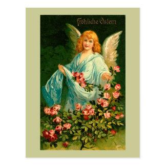Ángel alemán hermoso de Pascua del vintage Postal