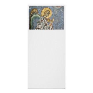 Ángel bizantino con las manos dobladas diseño de tarjeta publicitaria