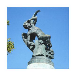 Ángel Caido, parque de Retiro, Madrid del EL Impresión En Lienzo
