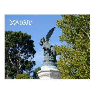 Ángel Caido, parque de Retiro, Madrid del EL Postal