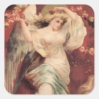Ángel color de rosa - pegatina