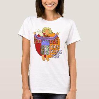 Ángel coloreado del clip art - dios le bendice camiseta