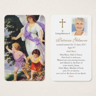 Ángel de guarda fúnebre del vintage de la tarjeta