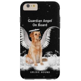 Ángel de guarda Retreiver de oro con las alas Funda Resistente iPhone 6 Plus