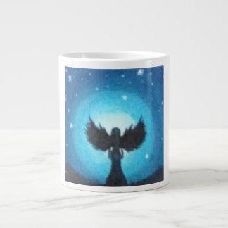 Ángel de guarda taza de café grande