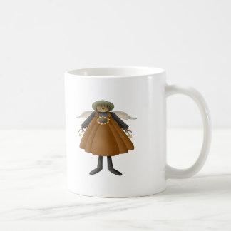 Ángel de la cosecha de la caída taza de café