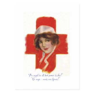 Ángel de la enfermera del francés postal