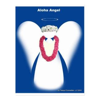 Ángel de la hawaiana tarjeta postal