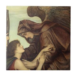 Ángel de la muerte (detalle) por Evelyn De Morgan Azulejo Cuadrado Pequeño
