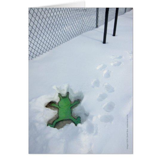 Ángel de la nieve de Sluggo Tarjeta De Felicitación