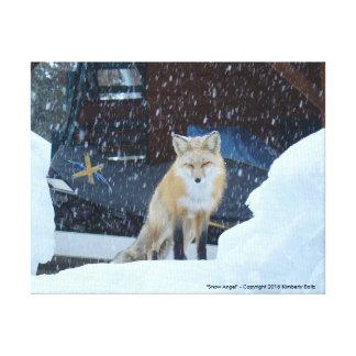 Ángel de la nieve - impresión en lona