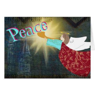 Ángel de la tarjeta de Navidad de la paz
