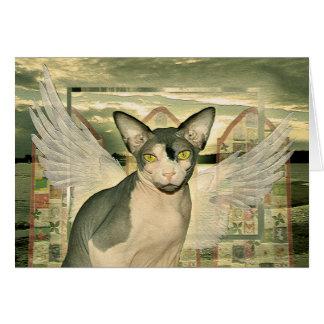 Ángel de la tarjeta el | Sphynx con la condolencia